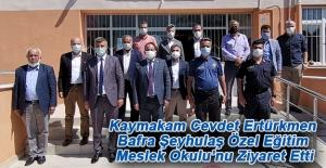 Kaymakam Ertürkmen'den Bafra Şeyhulaş Özel Eğitim Okulu'na Ziyaret