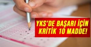 YKS'de başarı için kritik 10 madde!