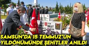 Samsun'da 15 Temmuz'un Yıldönümünde Şehitler Anıldı