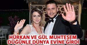 Hürkan ve Gül Muhteşem düğünle Dünya evine girdi
