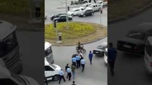 Bafra'da Gardiyanlar Trafiği bir birine kattı